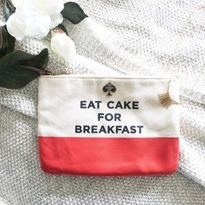 Kate Spade // Eat Cake for Breakfast Pouch/Clutch