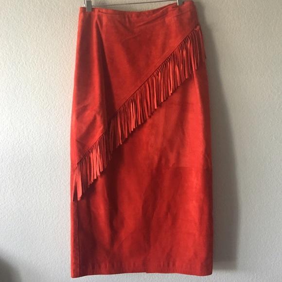 Vintage Dresses & Skirts - Vintage Melanzona Suede Skirt