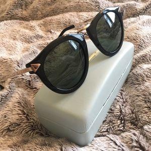 Karen Walker Accessories - Karen Walker Harvest Black and Gold Sunglasses