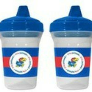 Baby Fanatic Other - Kansas University KU Jayhawks Sippy Cup - set of 2