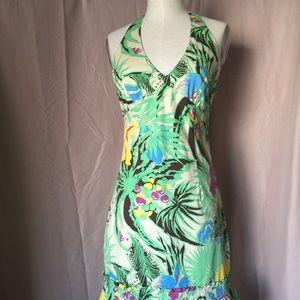 Floral Spring summer Halter Dress 10