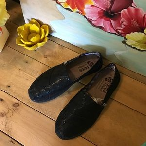 Bobs Shoes - Bobs 7W black shimmer shoes new