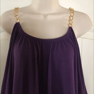 Goddess Tops - ❌RESERVED❌Plus size CHAIN STRAP Tunic/minidress