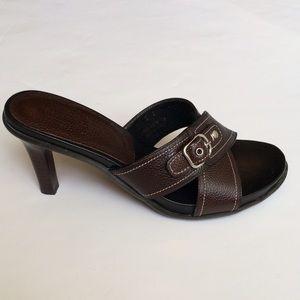 Coach Shoes - Coach Leather Mules Sandals