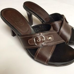 Coach Leather Mules Sandals