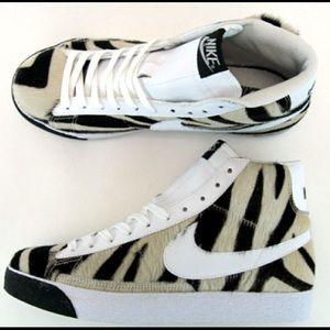 Nike Shoes - Nike Blazer animal Zebra fur limited edition sz 9