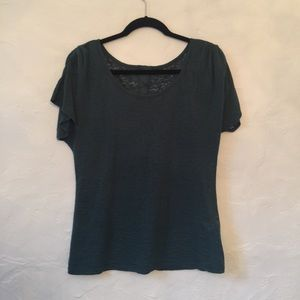 Jessica Simpson burnout green tee