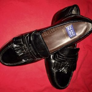 Nunn Bush Other - NUNN BUSH BLACK Leather Kiltie Loafer Shoes Sz 9 W