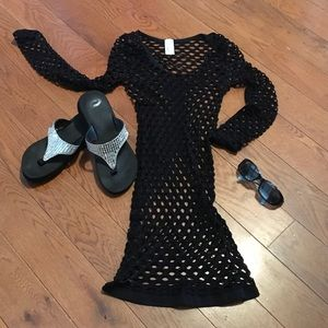 colorful Other - Black Fishnet design Swimwear cover up 😎