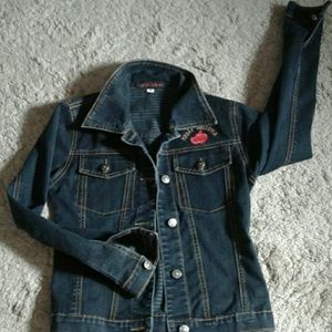 Apple Bottoms Jackets & Blazers - Apple Bottoms denim size small button down jacket