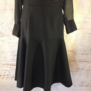 J.Crew NWOT black suiting tulip skirt 12
