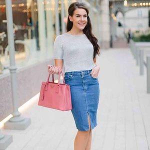 Dresses & Skirts - High waisted denim jean pencil skirt
