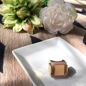 Jewelmint Jewelry - Beige/tan/cream gold and silver Jewelmint ring.