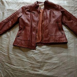 Maralyn & Me Jackets & Blazers - Faux leather jacket