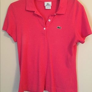 Lacoste Tops - Pink Lacoste polo
