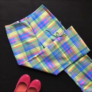 Prada Linea Rossa Colorful Bow Capris