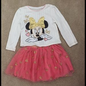 Disney Other - Disney Minnie Mouse Dress Set