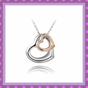 Boutique Jewelry - 💘Rose & White Gold Filled Heart Necklace💘