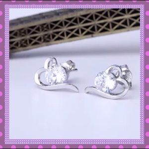 Boutique Jewelry - 💗Heart shaped Studs with Cubic Zirconia💗
