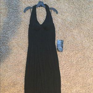 Long sexy black dress