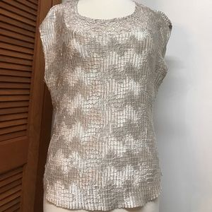 Light grey dressy Sleeveless Top