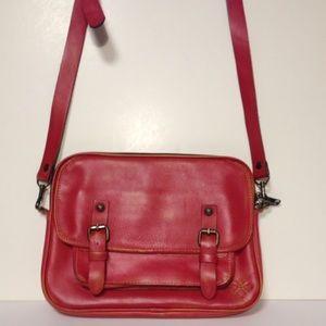 Patricia Nash Handbags - Patricia Nash distressed leather red crossbody bag