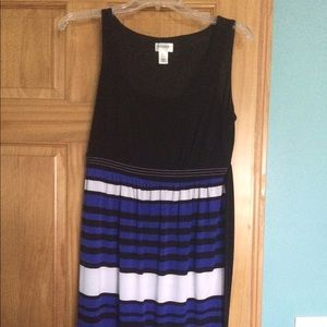 Motherhood Maternity Small black/blue stripe dress