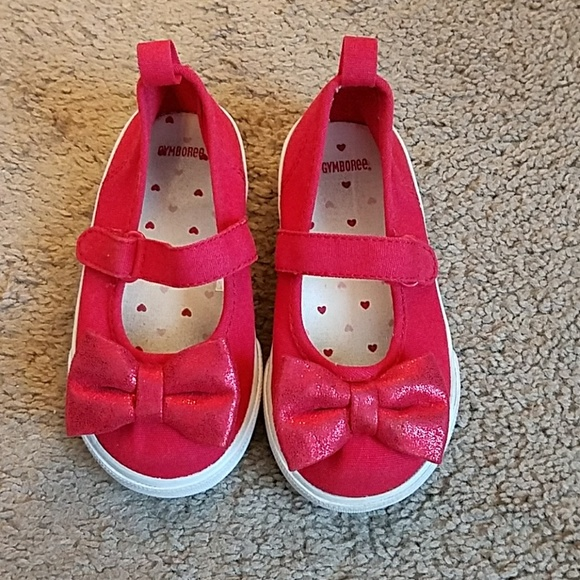Gymboree canvas shoes NWT UPICK girls 2 4 big girl mary jane sneakers flower red
