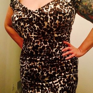 Stop Staring Dresses & Skirts - Stop Staring! Leopard print bodycon dress. Size 18