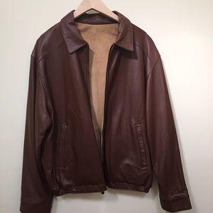Weatherproof Other - Weatherproof Reversible Leather Jacket