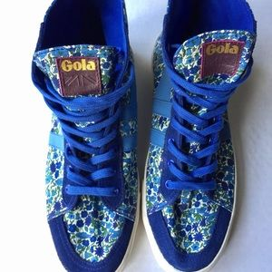 Gola Shoes - Gola Liberty Quota Petal Blue High Top Sneakers