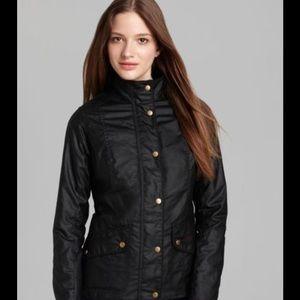 Barbour Jackets & Blazers - RARE Barbour Black Ferndown Wax Cotton Jacket US 4