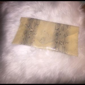 Handbags - Snake print envelope clutch