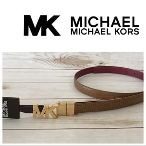 MICHAEL Michael Kors Accessories - Michael Kors 3/4 Inch Skinny reversible belt