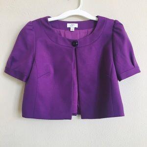 LOFT Purple Cropped Bolero Jacket