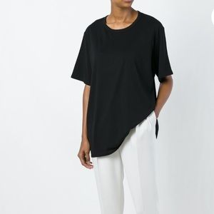 The Row Tops - The Row Oversized Sheer Panel T Shirt