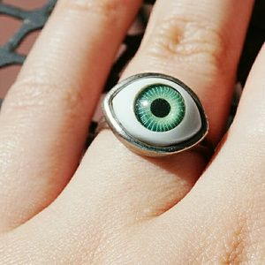 Jewelry - 90s Seeing Eye Ring Adjustable Band.