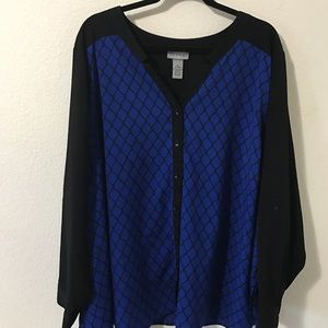 Catherines Tops - Catherine's long sleeve silky shirt