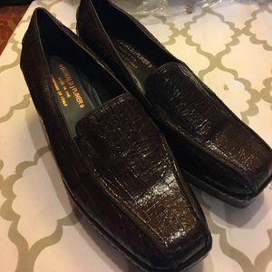 Donald J. Pliner Shoes - Donald Pliner slip on wedge crocodile skin 8 EUC