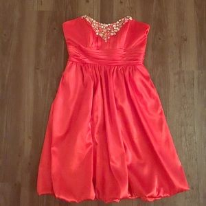 Alfred Angelo Dresses & Skirts - Coral Red/Orange Cocktail Dress 💥❤️💎