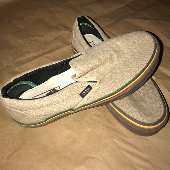 Slip on canvas/hemp bob Marley vans,
