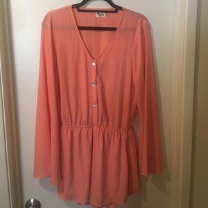 Show Me Your MuMu Dresses & Skirts - Show Me Your Mumu peach romper!