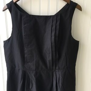 Lands' End Dresses & Skirts - Sleeveless Black Dress - Pockets & Pleats