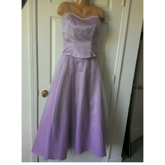 Dresses Lavender Prom Dress 2 Piece Top Skirt Size 14 Poshmark