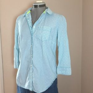 jcpenney Tops - jcp Bright Blue Pinstripe Top
