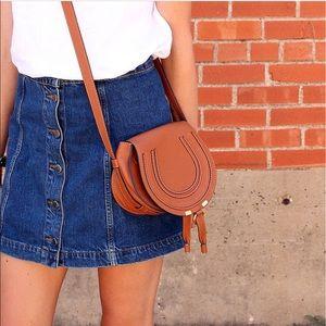 • Topshop Mini  Denim Skirt •
