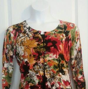 Joseph Allen Sweaters - Bright Floral Cardi