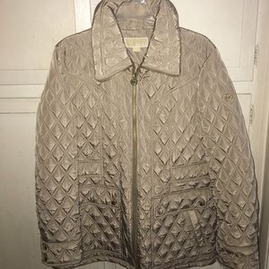 Michael Kors Quilted Tan Jacket NWT Size XL