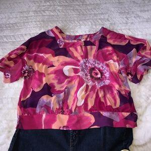 Tops - Plus Size Floral Blouse Size 1X