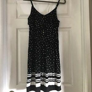 Elle Dresses & Skirts - Cute black and white polka for dress